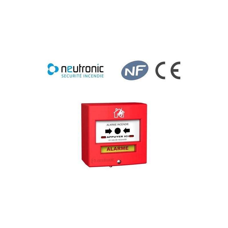 Déclencheur manuel rouge Neutronic 4710R1-1 contact avec capot