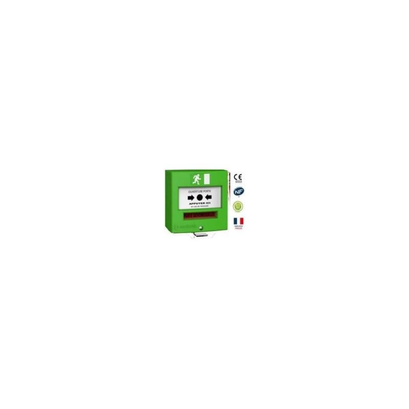 Détecteur manuel 2 contacts vert + capot  31.31€