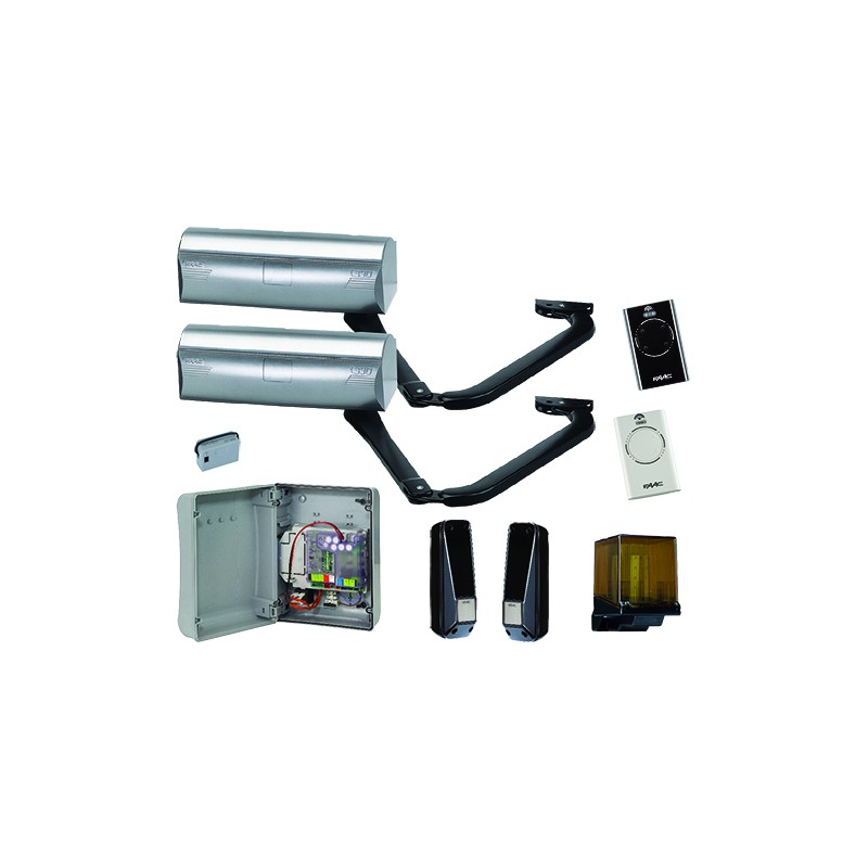 FAAC Kit Magnum Plus Integral Motorisation portail battant 24V - FAAC 105660146