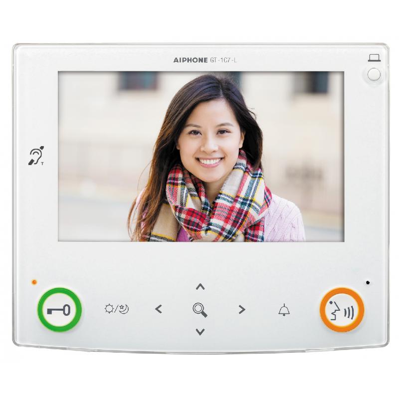 """Moniteur couleur mains libres écran 7"""" Aiphone GT1C7L"""