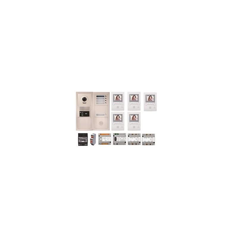 Pack vidéo GTBV5E 5 boutons avec 5 moniteurs GT1M3 programmés Aiphone 1986.51 €