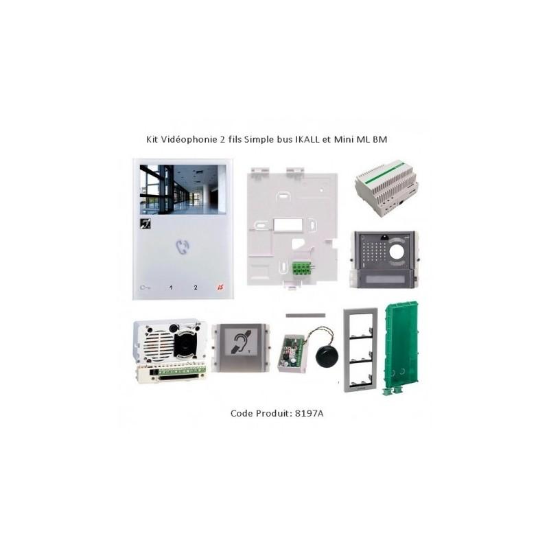 Kit Vidéophonie 2 fils Simple bus IKALL et Mini ML BM - Comelit