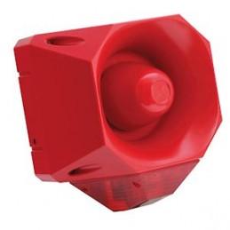 Sirène d'évacuation incendie filaire industrielle son 32 tons 110dB et flash Cordia