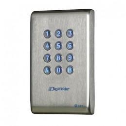 Digicode en INOX rétro éclairé avec électronique intégrée 2 relais CDVI