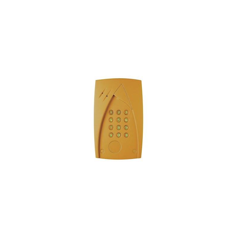 Clavier codé Tercode 3100 Doré 1 relais NO-1NF 100 codes BTICINO