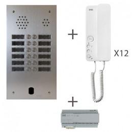 Kit Audio 2R 12Bp 2 Voice Programmé KA83/212 Urmet