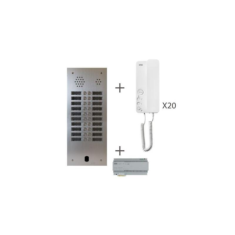 Kit Audio 2R 20Bp 2 Voice Programmé KA83/220 Urmet