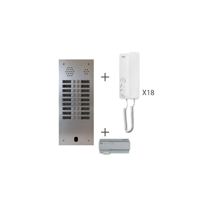 Kit Audio 2R 18Bp 2 Voice Programmé KA83/218 Urmet