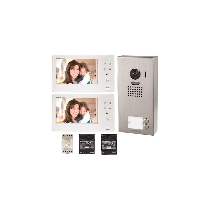 Kit vidéo couleur mains libres 2 BP saillie Aiphone JO2SDV