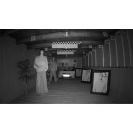 Image de la caméra fonctionnant de nuit, avec l'illuminateur IR intégré allumé: