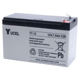 Batterie au plomb Yuasa 12V 7Ah Modèle NP7-12