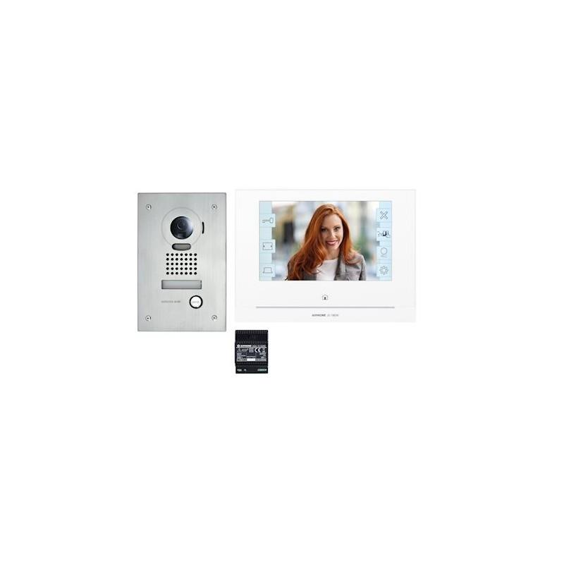 """Kit vidéo platine encastrée avec moniteur écran 7"""" avec module WiFi intégré"""