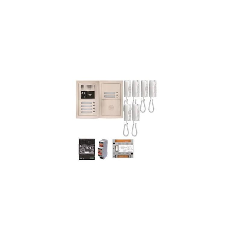 Pack audio pour 6 logements encastré avec 6 combinés Aiphone GTBA6E