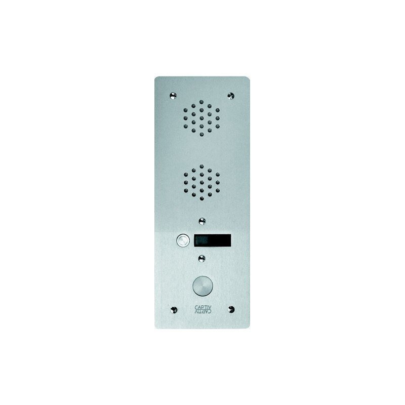 Platine Alu 6 mm Interphone 1 rangée 1 bouton d'appel URMET  7771/1