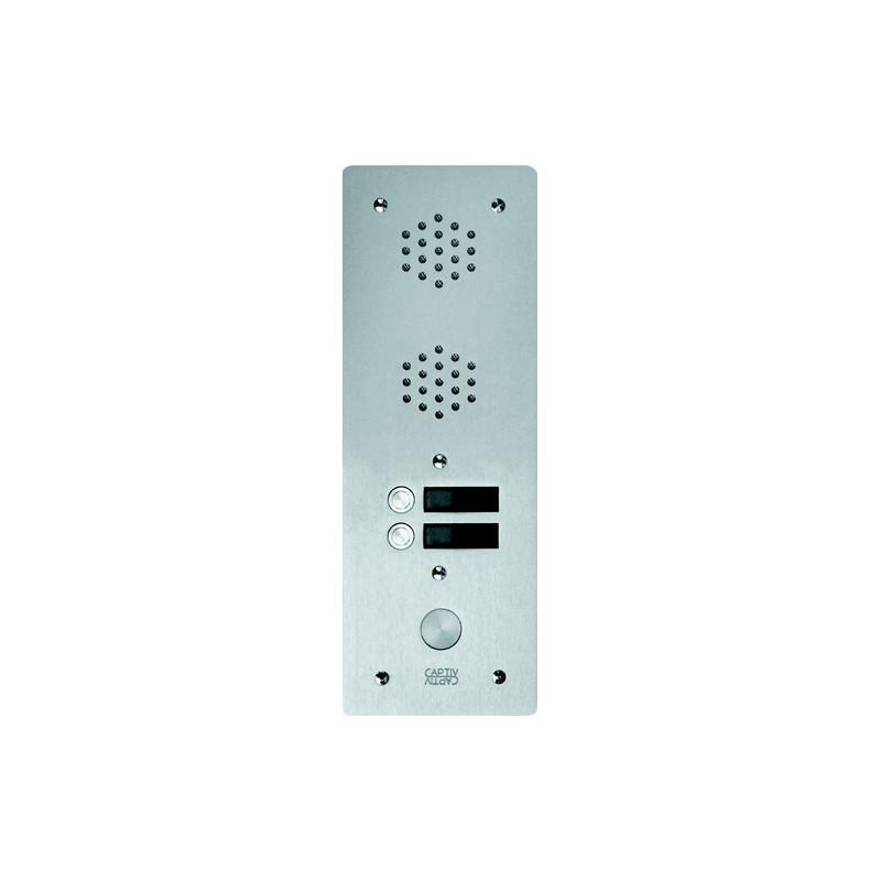 Platine  Alu 6 mm Interphone 1 Rangée 2 Boutons D'appels URMET  7771/2