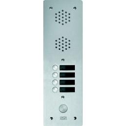 Platine  Alu 6 mm Interphone 1 Rangée 4 Boutons D'appels URMET 7771/4