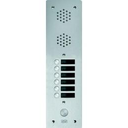 Platine Alu 6 MM Interphone1 Rangée 6 Boutons D'appels URMET  7771/6