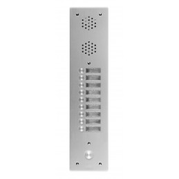 Platine Alu 6 MM Interphone1 Rangée 9 Boutons D'appels URMET  7771/9